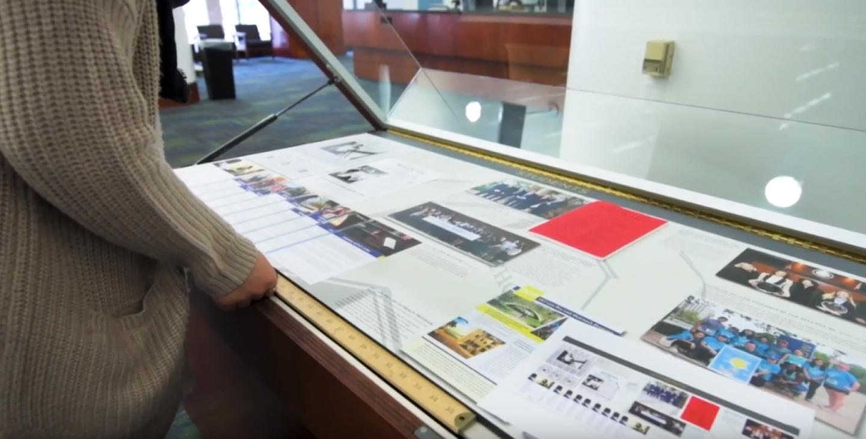 UCI School of Law exhibit case