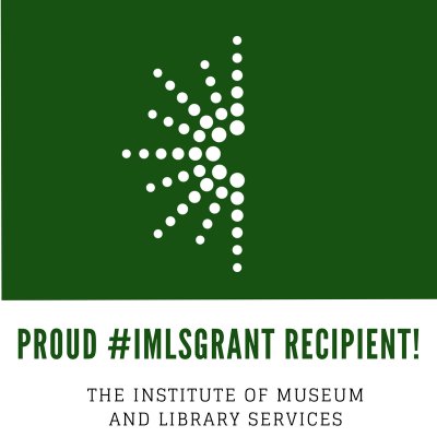 Proud #IMLSGRANT recipient badge
