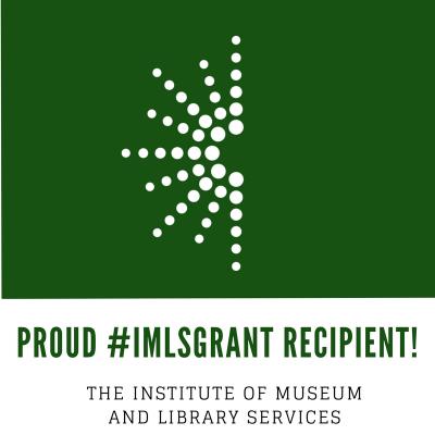 Proud #IMLSGRANT recipient badge