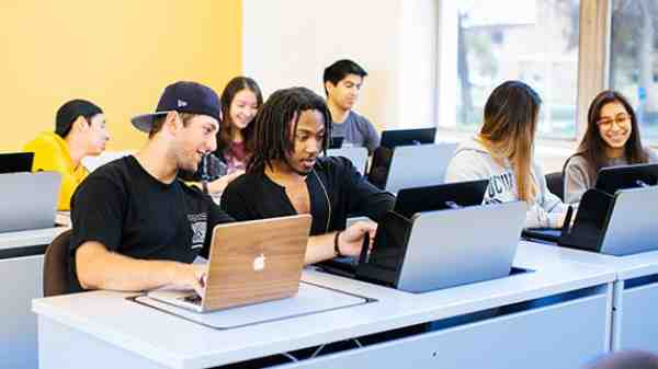 students researching at UCR